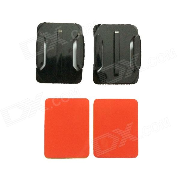 Square Fixed Mount + Square Surface Super Glue for Gopro Hero 4/ 1 / 2 / 3 / 3+ - Black + Red pannovo waterproof pu leather extra thick anti shock eva case for gopro hero 4 3 3 2 sj4000