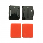 Square Fixed Mount + Square Surface Super Glue for Gopro Hero 1 / 2 / 3 / 3+ - Black + Red