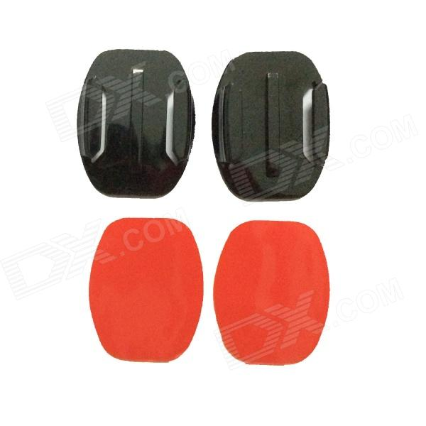 Oval Fixed Mount + Oval Surface Super Glue for Gopro Hero 4/ 1 / 2 / 3 / 3+ / SJ4000 - Black + Red relax mode пижама с брюками relax mode 10327 pembe розовый