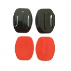 Oval Fixed Mount + Oval Surface Super Glue for Gopro Hero 1 / 2 / 3 / 3+ / SJ4000 - Black + Red