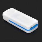 USB 4-in-1 2.0 TF / lector de tarjetas SD / MS / M2 - blanco + azul