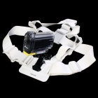 DUALANE Fashionable Integrated Fixed Chest Strap Camera Accessory for SONY AS15/AS30 - White