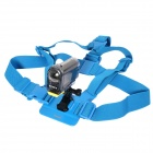 DUALANE Fashionable Integrated Fixed Chest Strap Camera Accessory for SONY AS15/AS30 - Blue