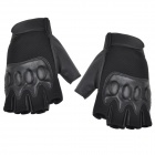 SW1008 Tactical PU + Nylon Full-Finger Gloves - Black (XL / Pair)