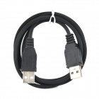 USB 2.0 Male to Male Extension Cable - Black + Silver (100cm)