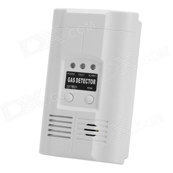 Combustible Gas Leakage Detector - White (AC 110~220V) rotatable stainless steel top rainfall pressure shower head set with hose and steering holder