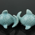 Creative Pisces Spice Jar - Blue (2 PCS)