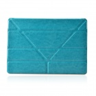 "Multi-function ""V"" 3-Fold Protective PU Leather + Plastic Case Cover Stand for Ipad AIR - Blue"