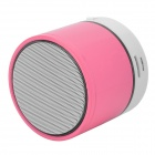 S08 Portable Bluetooth v3.0 Speaker w/ TF / FM / Microphone - White + Pink