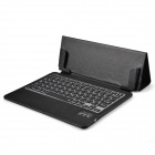 Ultrathin Bluetooth V3.0 79-key Keyboard w/ One Fold Pattern PU Leather Case for Ipad AIR - Black