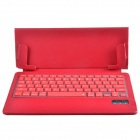 Ultrathin Bluetooth V3.0 79-key Keyboard w/ One Fold Pattern PU Leather Case for Ipad AIR - Red