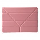 "Multi-function ""V"" 3-Fold Protective PU Leather + Plastic Case Cover Stand for Ipad AIR - Pink"