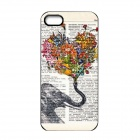 Elonbo J1A11 Cute Elephant Paint Protective PC Hard Back Case for Iphone 5 / 5s - Multicolored