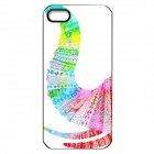 Elonbo J1A5 Cute Elephant Paint Protective PC Hard Back Case for Iphone 5 / 5s - Multicolored