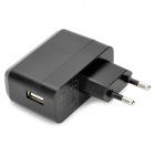 USB Male to Micro USB Male Data Cable w/ EU Plug Charger for Google Nexus 7 II - Black (200cm)