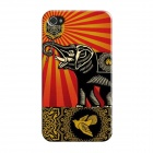 Elonbo J1A9 Cute Elephant Paint Protective PC Hard Back Case for Iphone 5 / 5s - Multicolored
