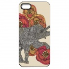 Elonbo J1A6 Cute Elephant Paint Protective PC Hard Back Case for Iphone 5 / 5s - Multicolored