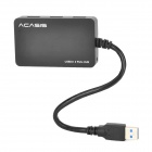 Acasis Hs005 USB 3.0 4-Port Hub - Black