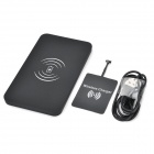 Universal 5V 1A Qi Wireless Charger w/ Micro USB Receiving Module - Black