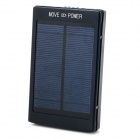 "Portable Dual USB 5V ""10000mAh"" Li-ion Polymer Battery Solar Power Bank w/ LED - Black Grey"