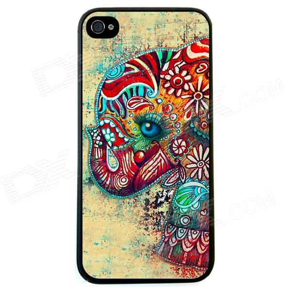 Elonbo J1A2 Cute Elephant Paint Protective PC Hard Back Case for Iphone 5 / 5s - Multicolored соковыжималка philips hr 2744 40 25 вт пластик белый