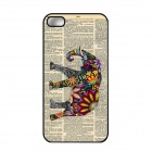 Elonbo J1A3 Cute Elephant Paint Protective PC Hard Back Case for Iphone 5 / 5s - Multicolored