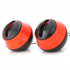 HUPOR NE-013 USB / 3.5mm Wired Hi-Fi Stereo Speakers Set - Red + Black