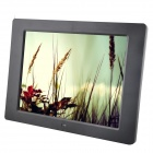 "C131021007 12 ""-LED-Desktop Digital Photo Frame w / SD / MMC / USB / Kopfhörer / DC-In - Schwarz (16 MB)"