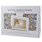 "7 ""Escritorio Digital Photo Frame w / Light / SD / MMC / USB / auriculares / DC En Slot - Negro (16 MB)"