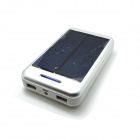 "Solar Powered ""13800mAh"" External Battery Charger Power Source Bank - Silver + White"