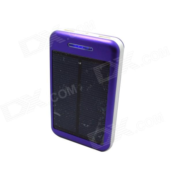 Solar Powered 13800mAh External Battery Charger Power Source Bank - Purple + White 100w folding solar panel solar battery charger for car boat caravan golf cart