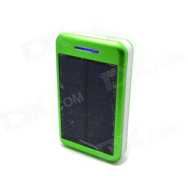 Solar Powered 13800mAh External Battery Charger Power Source Bank - Green + White 100w folding solar panel solar battery charger for car boat caravan golf cart