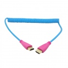 CY HD-111 Spring 1080p HDMI V1.4 Male to Male Video Audio Cable for HDTV / DVD / PC - Blue (120cm)