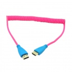CY HD-111 Spring 1080p HDMI V1.4 Male to Male Video Audio Cable for HDTV / DVD / PC - Pink (120cm)