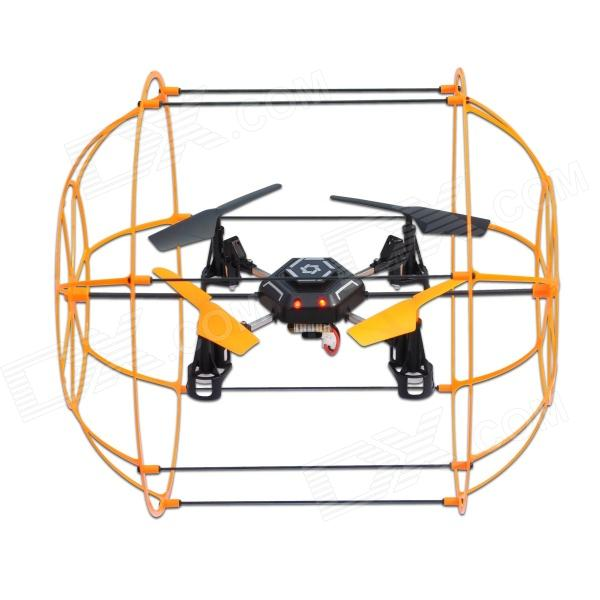Hengdi HM1306 4-CH Skywalker 2.4Ghz Climbing Wall/Rolling on the Floor/Ceiling RC Quadcopter- Yellow