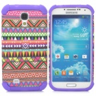 Tribal Ethnic Style Protective Plastic + TPU Back Case for Samsung Galaxy S4 i9500 - Multicolored