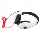 DITMO DM-4700 Stereo Headphones for Iphone / Ipad / Ipod - Black + White (3.5mm Plug / 1.2m)