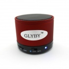 Glyby Portable Mini Wireless Bluethooth V4.0 Speaker - Red + Black