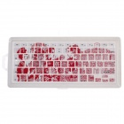 XSKN 799223332B07 The Paper-cut Totem Keyboard Cover MacBook - White + Red