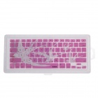 XSKN 799223332B10 Swallow Pattern Protective Silicone Keyboard Cover for MacBook - Pink + White