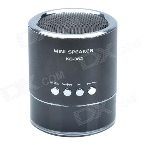 KS-362 Hi-Fi  Stereo Mini Speaker w/ Micro SD / U-flash & FM function - Black