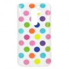 02 Polka Dot Pattern Protective TPU Back Case for LG G2 / D801 - White + Green + Multicolored