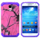 Tree Branch Style Protective Plastic + TPU Back Case for Samsung Galaxy S4 i9500 - Purple