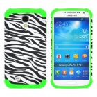 Zebra Pattern 2-in-1 Protective Plastic + Silicone Back Case for Samsung S4 i9500