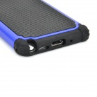 Football Pattern 2-in-1 Plastic + Silicone Back Case for Samsung Note 3 / N9000 - Blue + Black