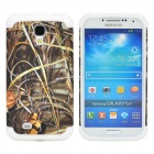 2-in1 Protective Plastic + Silicone Back Case for Samsung S4 i9500 - White + Multicolored