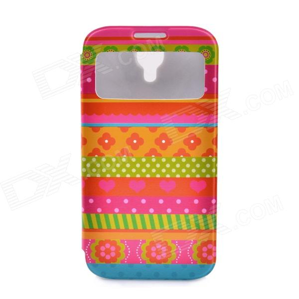LOFTER National Style Flip Open PU Leather Case Cover for Samsung Galaxy S4 i9500 - Multicolored plagiarism detection system for afghanistan s national languages