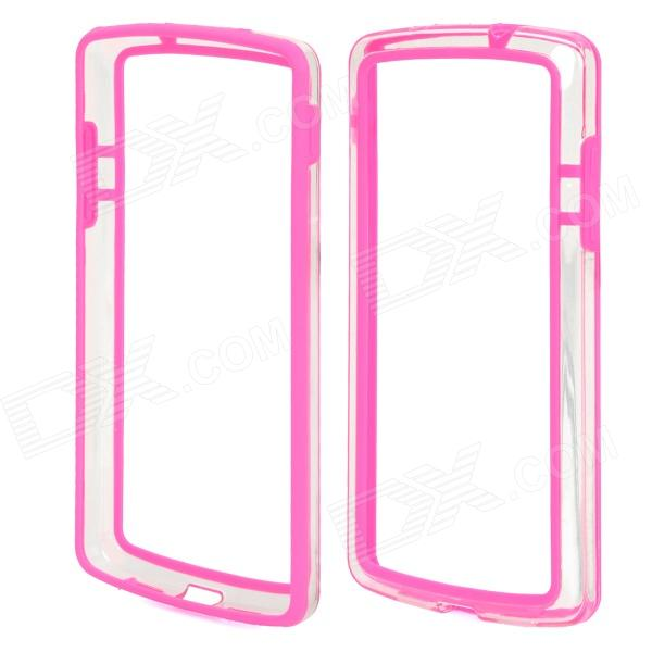 S-What Protective PC + TPU Bumper Frame for Google Nexus 5 - Deep Pink + Transparent s what protective metal bumper frame for iphone 5 5s deep pink