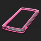 S-What Protective PC + TPU Bumper Frame for Google Nexus 5 - Deep Pink + Transparent