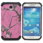 Tree Branch Style Protective Plastic + TPU Back Case for Samsung Galaxy S4 i9500 - Black